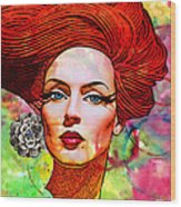 Woman With Earring Wood Print by Chuck Staley