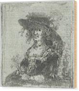 Woman With Hat, Print Maker Jan Chalon Wood Print