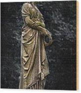 Woman With Wreath Wood Print