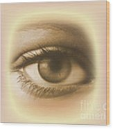 Womans Eye Wood Print