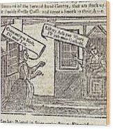 Women Arguing, 18th Century Artwork Wood Print