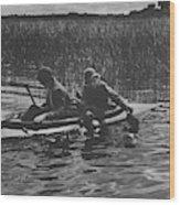 Women Duck Hunting In Chesapeake Wood Print