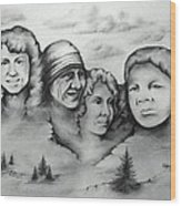 Women Who Rock Wood Print