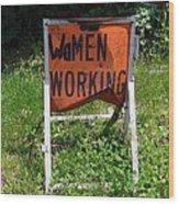 Women Working Wood Print