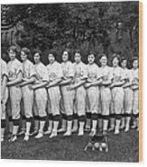 Women's Baseball Team Wood Print