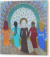 Women's Circle Mandala Wood Print