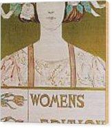 Womens Edition Buffalo Courier Wood Print