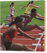 Womens Hurdles 3 Wood Print