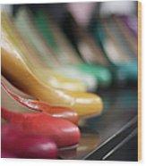 Womens Shoes Wood Print