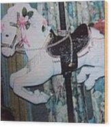 Wonder Horse Wood Print by Rosalie Klidies
