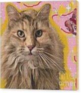 Wonder Kitty Wood Print
