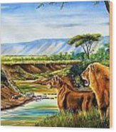 Wonder Of The Great Migration Wood Print