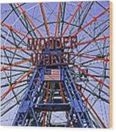 Wonder Wheel 2013 - Coney Island - Brooklyn - New York Wood Print