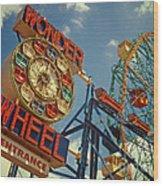 Wonder Wheel - Coney Island Wood Print