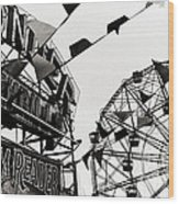 Wonder Wheel Wood Print