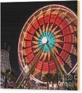 Wonder Wheel - Slow Shutter Wood Print