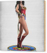 Wonder Woman V1 Wood Print by Frederico Borges