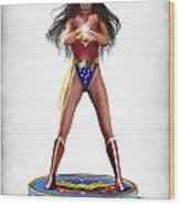Wonder Woman V2 Wood Print by Frederico Borges