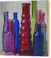Wonderful Glass Bottles Wood Print