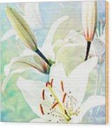 Wonderful Lilies Wood Print