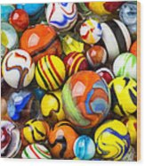 Wonderful Marbles Wood Print