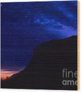 Wonderful Night Fall - Norway . Free Europe. Wood Print