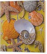 Wonderful Sea Life Wood Print