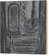 Wondering Halls Wood Print