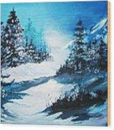 Wonders Of Winter Wood Print