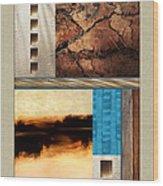 Wood And Stone Rectangular Textures Wood Print