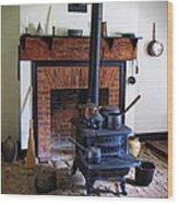 Wood Burning Stove Wood Print