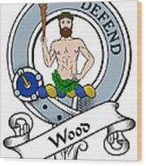 Wood Clan Badge Wood Print