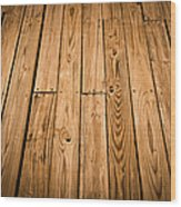Wood Deck Background Wood Print