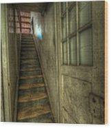 Wood Door And Stairs Wood Print