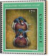 Wood Duck Stamp Wood Print