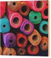 Wood Flutes Wood Print