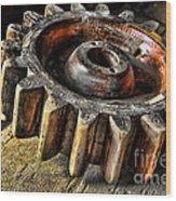 Wood Gears Wood Print