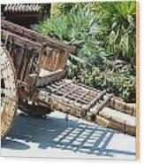 Wood Hand Cart II Wood Print