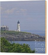 Wood Island Lighthouse Wood Print