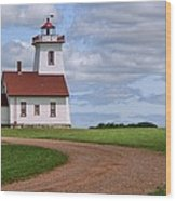Wood Islands Lighthouse - Pei Wood Print