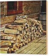 Wood Wood Print by Marty Koch