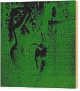 Wood Nymphs In Green Night Sight Wood Print