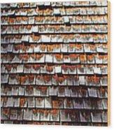 Wood Roof Shingles Wood Print