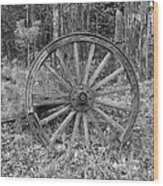 Wood Spoke Wheel Wood Print