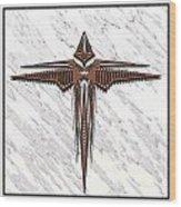 Wood Steel Cross Wood Print
