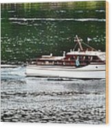 Wooden Boat With Skiff Wood Print