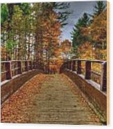 Wooden Bridge Wood Print