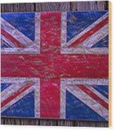 Wooden British Flag Wood Print