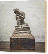 Wooden Buddha Statue Wood Print