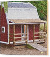 Wooden Cabin  Wood Print